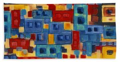 Bath Towel featuring the painting My Jazz N Blues 2 by Holly Carmichael