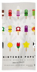 My Mario Ice Pop - Univers Hand Towel by Chungkong Art
