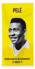 My Pele Soccer Legend Poster Hand Towel by Chungkong Art