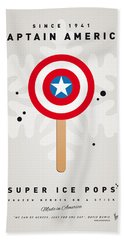 My Superhero Ice Pop - Captain America Hand Towel