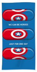 My Superhero Pills - Captain America Bath Towel