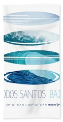 My Surfspots Poster-6-todos-santos-baja Hand Towel