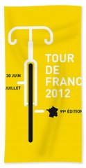 My Tour De France 2012 Minimal Poster Bath Towel