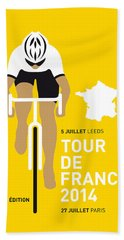 My Tour De France Minimal Poster 2014 Hand Towel