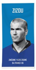 My Zidane Soccer Legend Poster Hand Towel by Chungkong Art