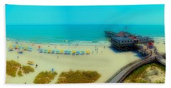 Hand Towel featuring the photograph Myrtle Beach South Carolina by Alex Grichenko