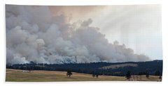 Myrtle Fire West Of Wind Cave National Park Bath Towel by Bill Gabbert
