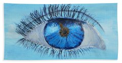 Bath Towel featuring the painting Mystic Eye by Pamela  Meredith