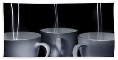 Mystic Tea Cups - Light Painting Hand Towel by Steven Milner