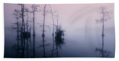 Mystical Morning On The Lake Hand Towel by Myrna Bradshaw