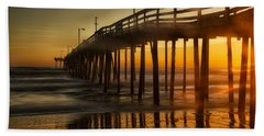 Nags Head Fishing Pier Hand Towel