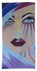 Naira - Contemporary Woman Painting Hand Towel
