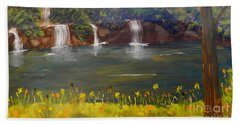 Nandroy Falls In Queensland Hand Towel