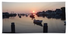 Bath Towel featuring the photograph Nantucket Sunrise 1 by Robert Nickologianis
