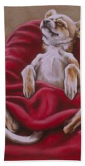 Nap Hard Bath Towel by Barbara Keith