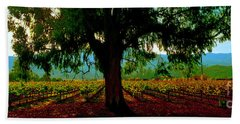 Napa Valley Winery Roadside Bath Towel