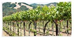 Napa Vineyard Grapes Bath Towel
