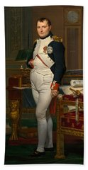 Emperor Napoleon In His Study At The Tuileries Hand Towel