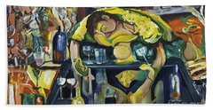 Narcisisstic Wine Bar Experience - After Caravaggio Bath Towel