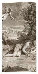 Narcissus Transformed Into A Flower Hand Towel