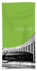 Nashville Skyline Country Music Hall Of Fame - Olive Hand Towel