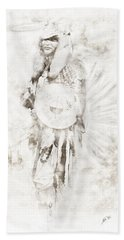 Hand Towel featuring the digital art Native American by Erika Weber