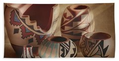 Native American Pottery Hand Towel
