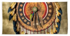 Native American Shield Hand Towel by Daniel Eskridge