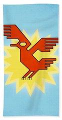 Native South American Condor Bird Hand Towel