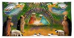 Nativity Bath Towel by Jean Pacheco Ravinski