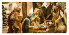 Hand Towel featuring the photograph Nativity Set by Alex Grichenko