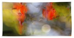 Natural Abstractions #8 Pomegranate Flowers Hand Towel
