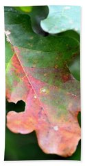Natural Oak Leaf Abstract Hand Towel