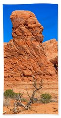 Natural Sculpture Bath Towel by John M Bailey