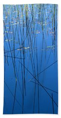 Nature's Abstract In Blue 1 Bath Towel