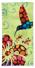Nature's Harmony 2 - Hummingbird Art By Sharon Cummings Bath Towel
