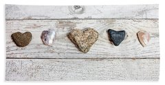 Hand Towel featuring the photograph Nature's Hearts by Art Block Collections