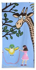 Hand Towel featuring the painting Nature's Playground by Kathleen Sartoris