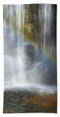 Hand Towel featuring the photograph Natures Rainbow Falls by Jerry Cowart