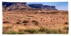 Navajo Nation Series Along 87 And 15 Hand Towel by Bob and Nadine Johnston