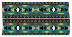Navajo Teal Pattern Bath Towel