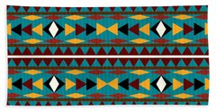Navajo Teal Pattern Bath Towel