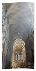 Nave Of The Cathedral Hand Towel by Michal Boubin