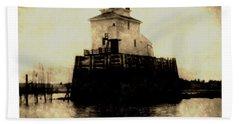 Navy Island Bar Lighthouse 2 Bath Towel