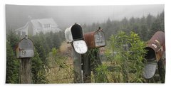 Nc Mailboxes Hand Towel by Valerie Reeves