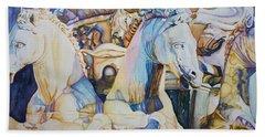Neptune's Sea Horses - Florence Bath Towel