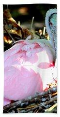 Nesting Spoonbill Hand Towel by Carol Groenen