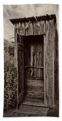 Nevada City Ghost Town Outhouse - Montana Hand Towel