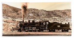 Nevada Northern Railway Bath Towel by Robert Bales