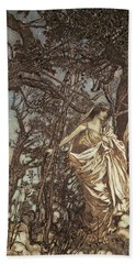 Never So Weary Never So Woeful Illustration To A Midsummer Night S Dream Hand Towel